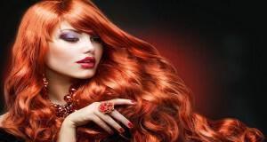 έντονα κόκκινα μαλλιά
