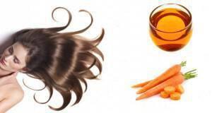 καροτέλαιο για μαλλιά