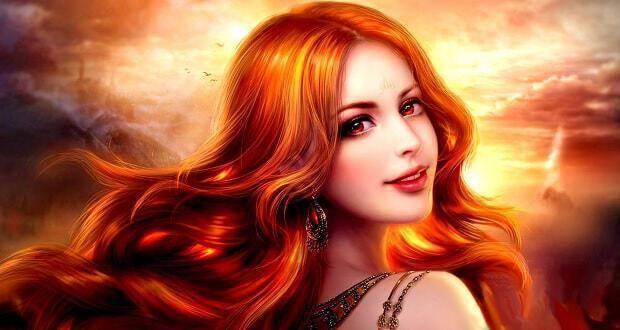 φλογερά κόκκινα μαλλιά