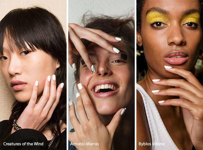 Λευκά νύχια άνοιξη – καλοκαίρι 2017