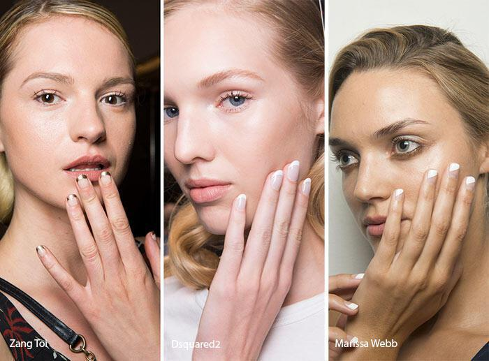 Παραλλαγές του γαλλικού  νύχια άνοιξη – καλοκαίρι 2017