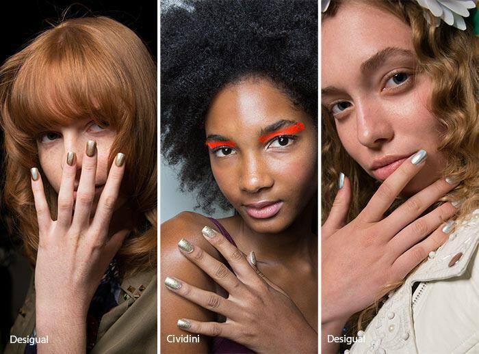 Matte metallics νύχια άνοιξη – καλοκαίρι 2017