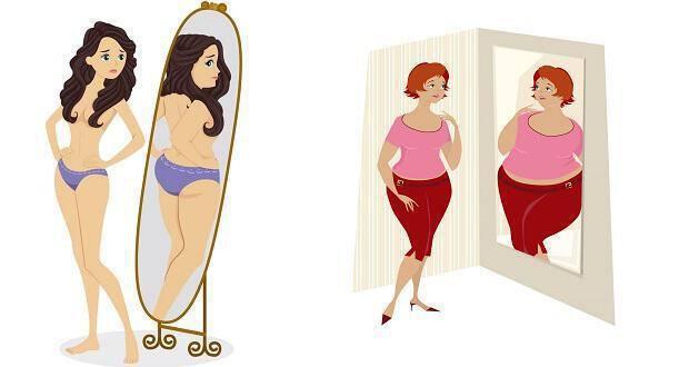 αισθάνομαι χοντρή στον καθρέφτη